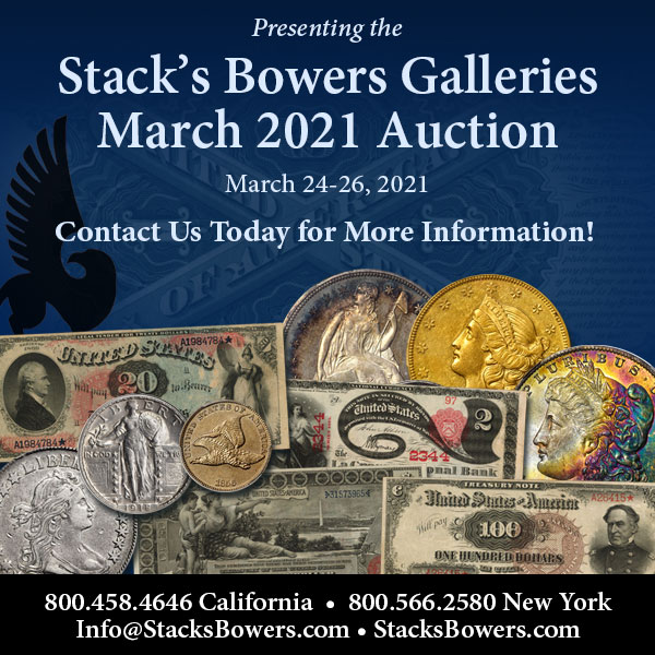 Stacks-Bowers E-Sylum ad 2021-01-24 Consign