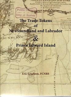 Trade Tokens of Newfoundland etc book cover