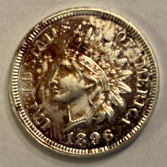 1896  Silvered Indian Cent obverse
