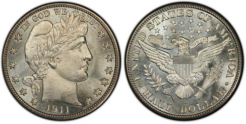 1911-D Barber HAlf Dollar