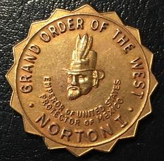 1953 Emperor Norton gold medal obverse