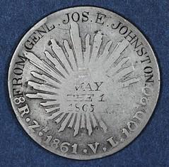 1861 8Reales Gen Johnston obverse