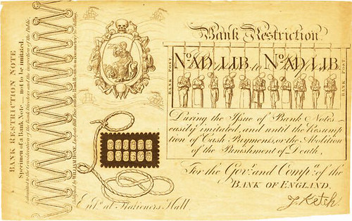 Cruikshank note front