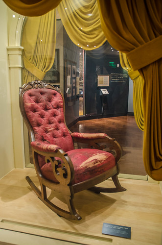abraham lincoln chair at fords theater on april 14