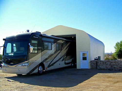 Motor Home Garages Metal : Rv garage this custom a model houses huge motor home
