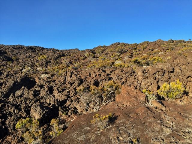 Lava petrificada en Le Piton de la Fournaise (Isla Reunión)