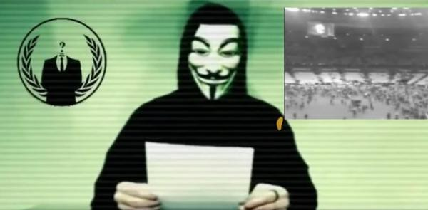 International hacker groups wearing