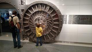 National Numismatic Collection exhibit safe door
