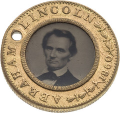 Abraham Lincoln Ferrotype Campaign Button front