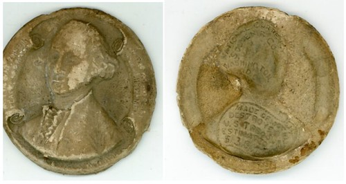 GEORGE WASHINGTON MACERATED MONEY MEDAL