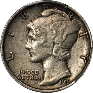 1916 Mercury Dime Pattern J-1983 obverse