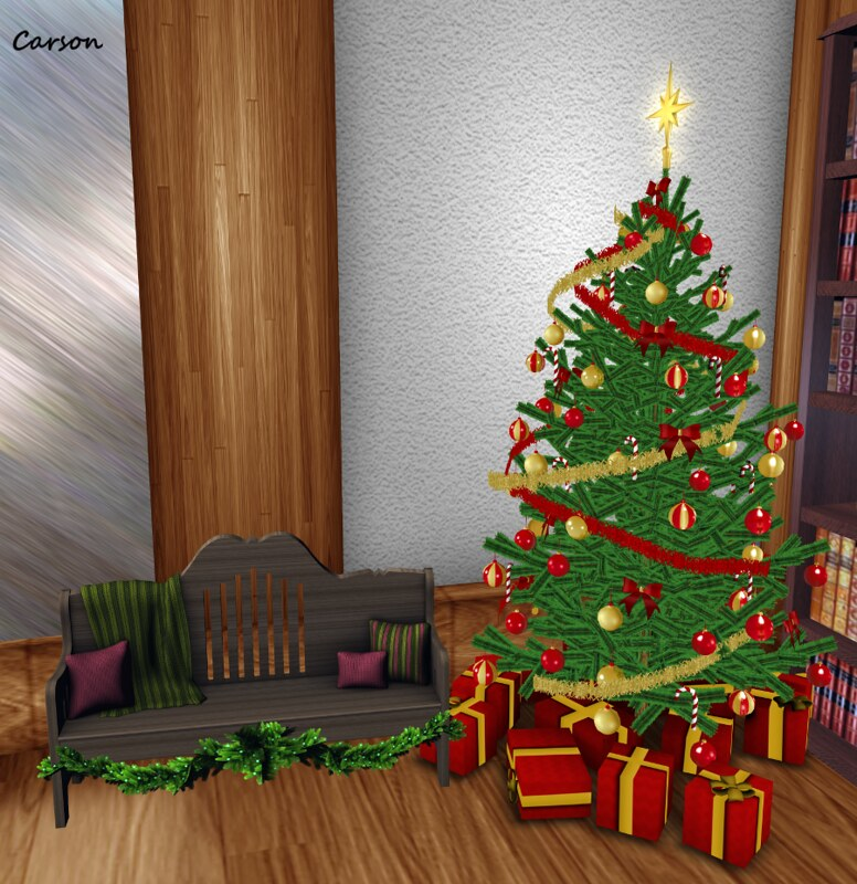 Mesh Agency - Christmas Tree Chaotic Creative - Winter's Rest 9 Position Bench