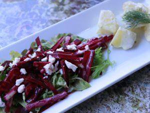 ビーツとポテトのデンマーク風サラダ