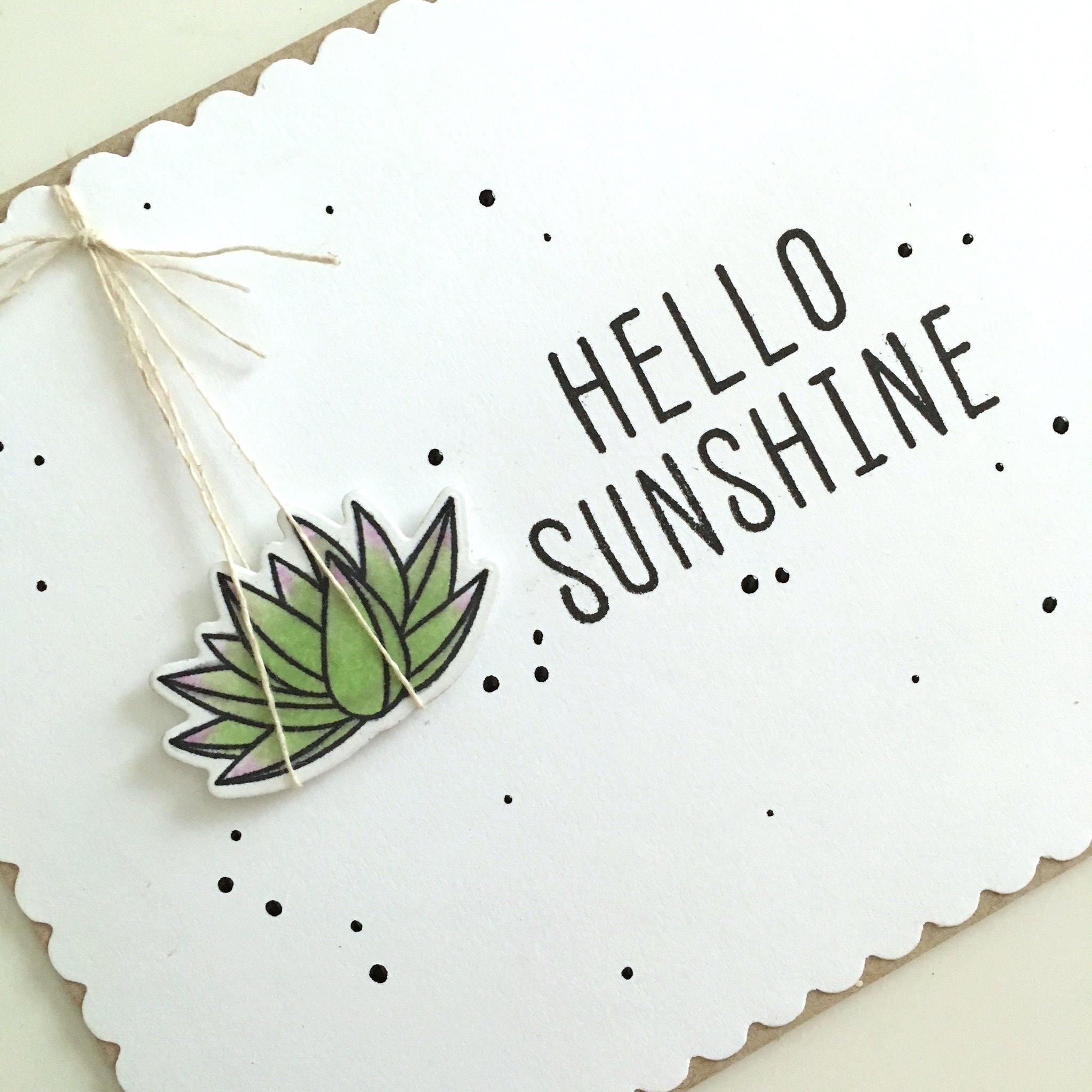 MFT sweet succulents hello sunshine card