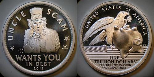 Dan Carr Uncle Scan Trillion Dollar satirical coin