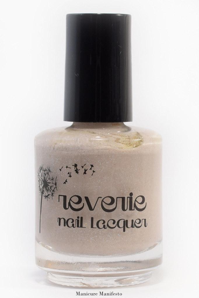 Beige shimmer nail polish