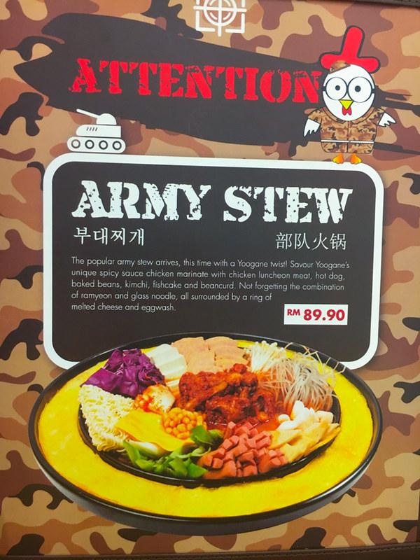 Yoogane Dak Galbi 1 Utama - Army Stew Menu
