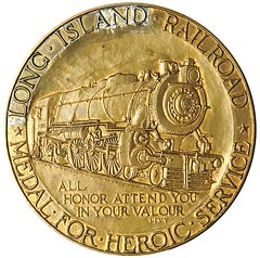 Pennsylvania Railroad Heroic Service Medal awarded Gingras obverse