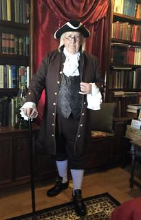 Pat McBride portraying Ben Franklin
