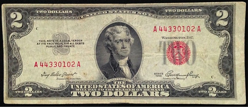 1953 $2 bill front