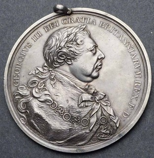 1814 George III Large Silver Peace Medal obverse