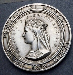 1872 Dominion of Canada Chiefs Medal obverss
