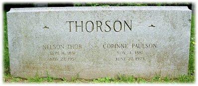 THORSON tombstone