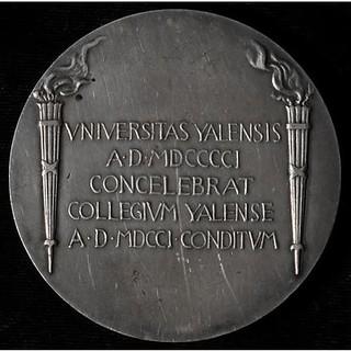 1901 Yale Bicentennial Medal reverse