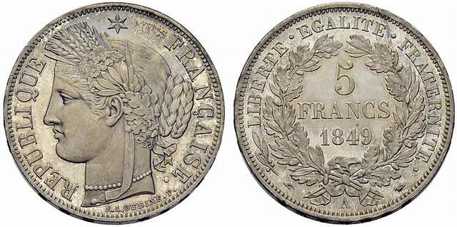 1849 France 5 Francs