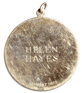 Helen Hayes' Circus Saints and Sinners Medal reverse
