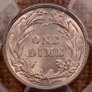 1899 Barber Dime reverse