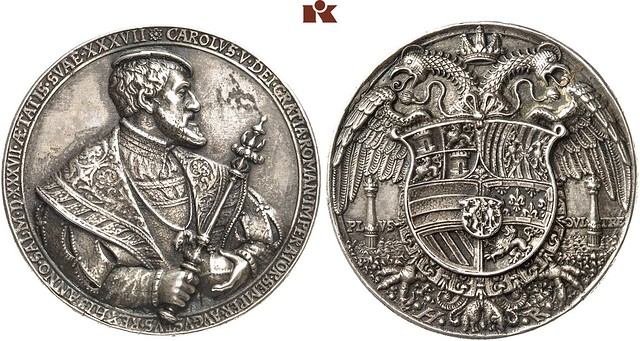 1537 Silver Medal of Karl V