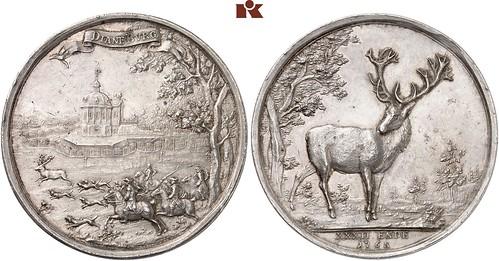 Battenberg Stag hunting medal