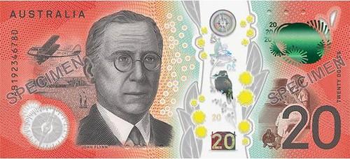 Australia $20 Note back
