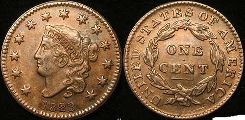 Fake 1823 Large cent