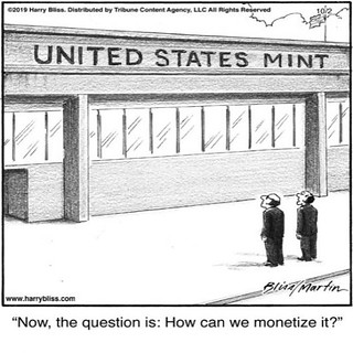Monetize the Mint cartoon