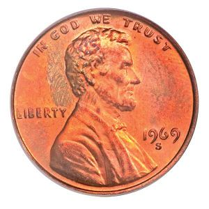 1969-S-Double-Die Memorial Cent