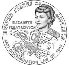 elizabeth-peratrovich Native American Dollar design