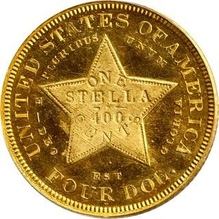 1879 $4 Stella reverse