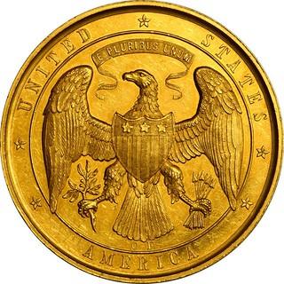 1861 Gold Life Saving Medal reverse
