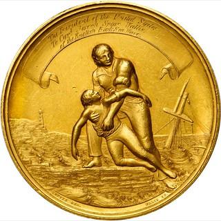 1861 Gold Life Saving Medal obverse