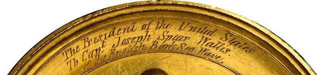 1861 Gold Life Saving Medal inscription