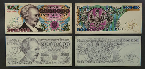 Banknotes designed by Andrzej Heidrich