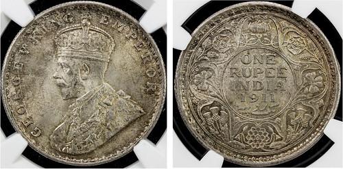 British India George V rupee
