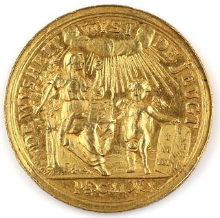 1744 Gold Medal reverse