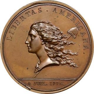 Original Libertas Americana Medal obverse
