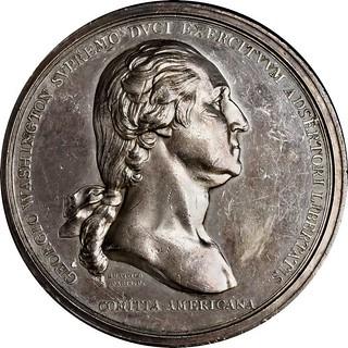 Original Silver Washington Before Boston Medal obverse