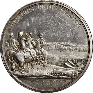 Original Silver Washington Before Boston Medal reverse
