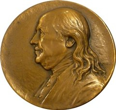 Franklin Medal Saturday Evening Post obverse