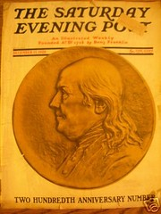 Franklin Medal Saturday Evening Post cover
